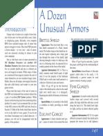 d20 Ronin Arts A Dozen Unusual Armors