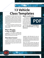 d20 Ronin Arts Future 13 Vehicle Class Templates