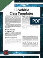 d20 Ronin Arts Future 13 Vehicle Class Templates