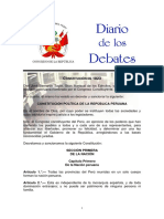 I. Constitución Política de La República Peruana (1823)