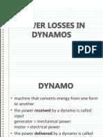 Power Losses in Dynamos