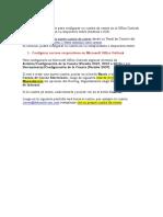 Configurar Correos Coporativos en Office Outlook y Dispositivos Móviles