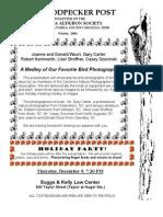 Winter 2004 Woodpecker Post Newsletter, Columbia Audubon Society