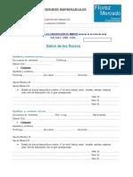 Formulario Constitucion Empresa
