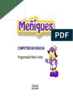 Programación Competencias Básicas Meñiques 4 Años Infantil Nacional