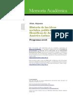 Historia de Las Ideas, Buibliografia