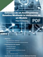 Selección de Un Accionamiento Rotativo Mediante La Utilización de Un Modelo 2 gdl