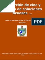 Biosorcion de Cinc y Cadmio de - Carballo Valdes, Maria Elena