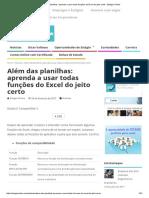 Além Das Planilhas_ Aprenda a Usar Todas Funções Do Excel Do Jeito Certo - Estágio Online