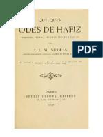 Quelques Odes de Hafiz
