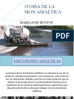 Historia de La Emulsion Asfaltica