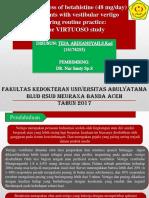 JOURNAL SARAF (Effectiveness of Betahistine)