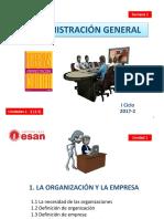 SEM 1_La Organización Hasta Proceso Administrativo VF