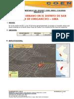 LIMA - San Juan de Lurigancho Incendio Urbano (Reporte Complementario 01)