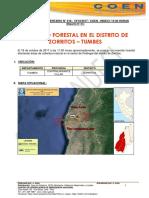 TUMBES - Contramirante Villar - Zorritos (Pedregal) Incendio Forestal (Reporte Complementario 01)