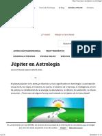 Júpiter en Astrología
