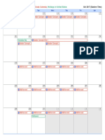 calendar 2017-10-01 2017-11-05