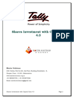 User Manual With FAQs - Shares Investment With Capital Gain