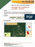 UCAYALI - Coronel Portillo - Calleria Accidente Aereo (Reporte Preliminar)