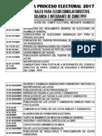Cronograma Proceso Electoral 2017
