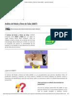 Análisis Del Modo y Efecto de Fallas (AMEF) - Ingeniería Industrial