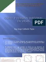 Corte y Tensión Diagonal en Vigas