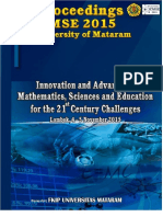 Proceedings of ICMSE 2015 University of Mataram v2.0