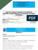 Aspectos Básicos Respecto a La Oxidación Húmeda y Supercrítica