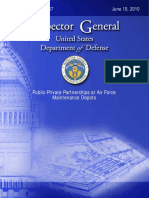 GAO Report on Public Private Partnerships at Air Force Depot