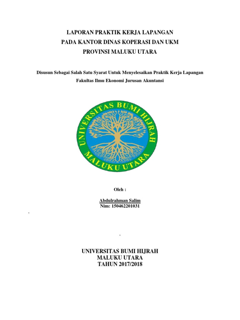 Contoh Laporan Prakerin Jurusan Akuntansi Di Koperasi Kumpulan Contoh Laporan