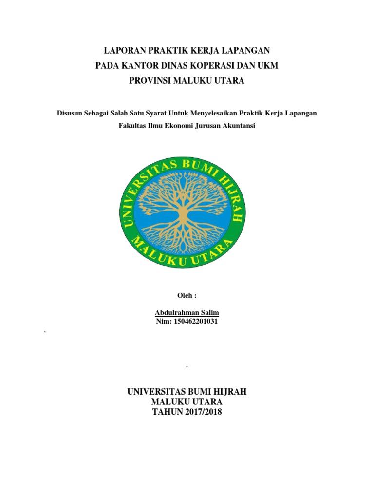 Contoh Laporan Pkl Akuntansi Di Dinas Koperasi Dan Ukm