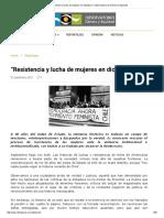 """""""Resistencia y Lucha de Mujeres en Dictadura"""" _ Observatorio de Género y Equidad"""