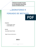 Lab Nº 9 Forjado de Metales