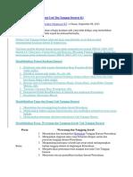 Struktur Susunan Organisasi Unit Tim Tanggap Darurat K3