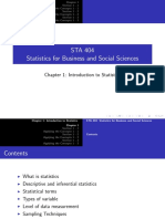 Chapter 1 - Introduction to Statistics