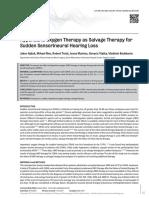 Therapy Hiperbarik Oksigen Pada Tuli Mendadak