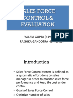 Salesforce Control and Evaluation