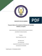 Proyecto Basico Planta Biomasa de Eucalipto