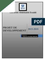 PROJET DE DEV (2015-2018)