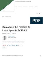 Customize the Fiorified BI Launchpad in BOE 4