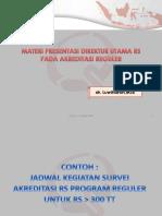 Template Presenteasi Direktur RS Akreditasi Reguler -Buat RS