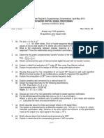 9D38103 Advanced Digital Signal Processing10