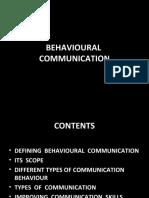 Behavioural Communication