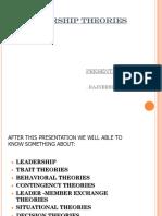 26625511 Presentation on Leadership Theories