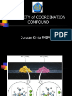 Stability of Coordination Compound