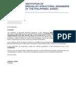 Letter of Sponsorship
