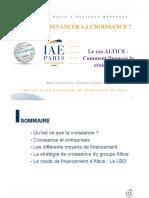 Comment Financer La Croissance - Cas Altice