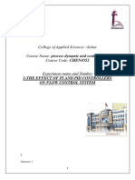 The Effect of Pi and Pid Controllers on Flow Control System