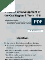 1- Developmental Disturbances I & II