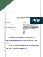 Sample Ex Parte Application for OSC for Civil Contempt in California